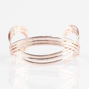 Rose gold bracelet paparazzi